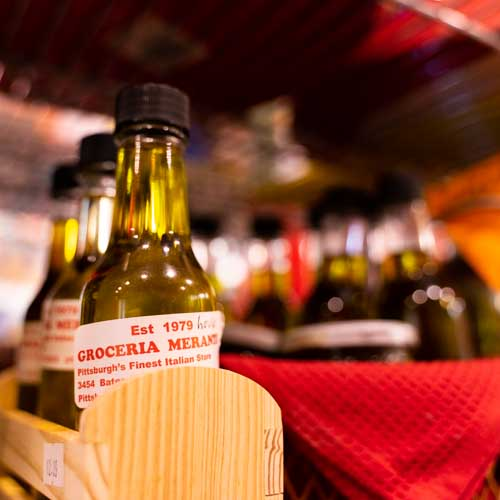 Italian Olive Oils at Grocery Merante